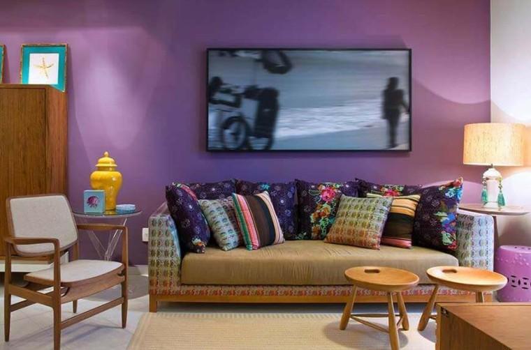 decoracion de interiores-modernos-violeta