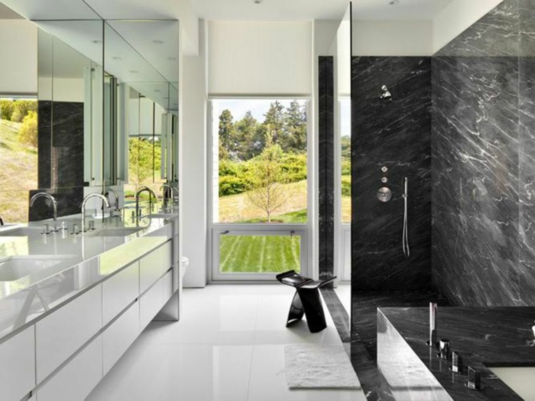 decoracion de interiores-paredes-marmol