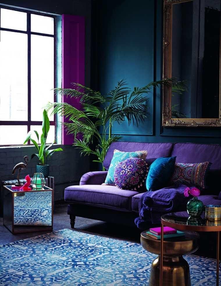 decoracion de interiores pintura-ultravioleta-violeta