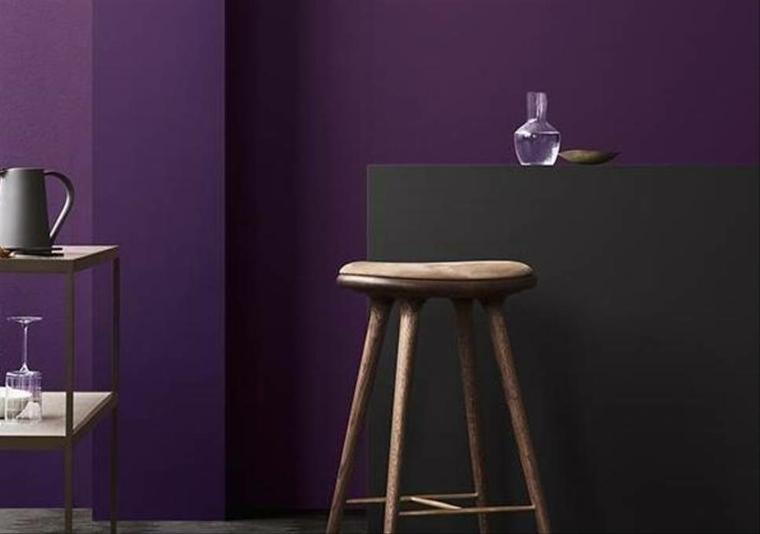 decoracion de interiores pintura-violeta-ultravioleta