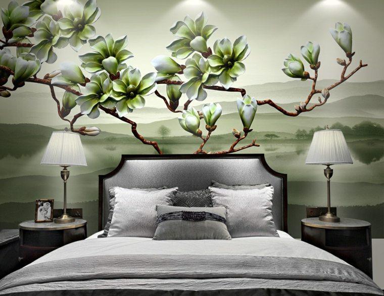 decoracion dormitorios-flores-modernas