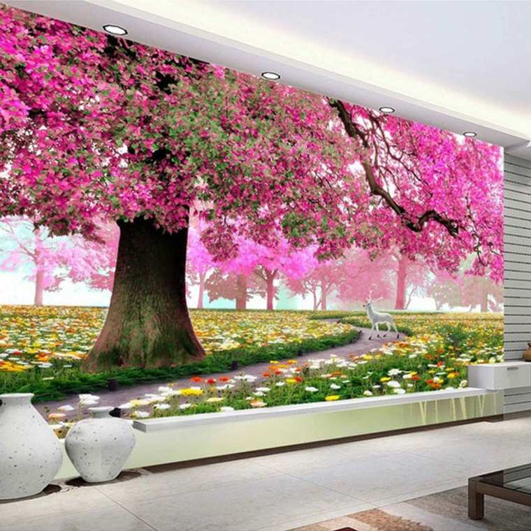 decoracion habitacion-flores-modernas