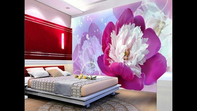decoracion habitacion-flores-paredes