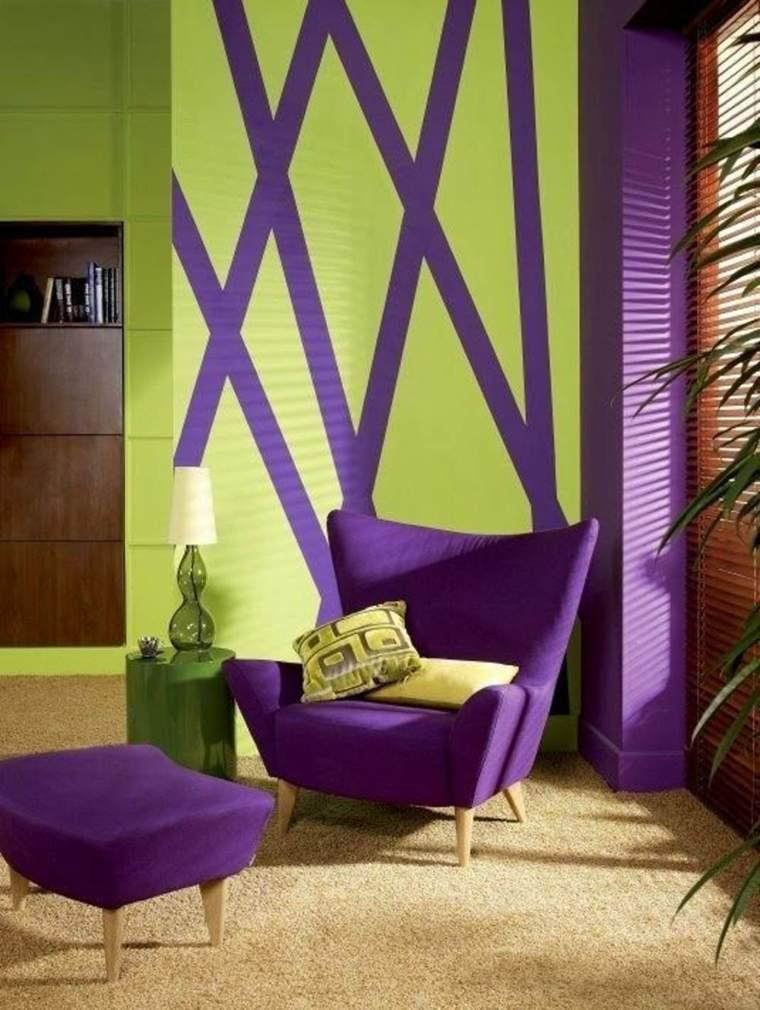 decoracion interior-color-violeta-ultravioleta