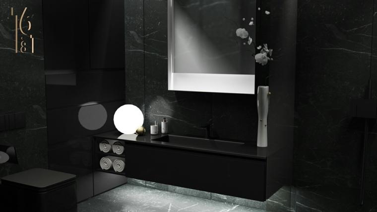 decoracion interiores-salas-banos-marmol