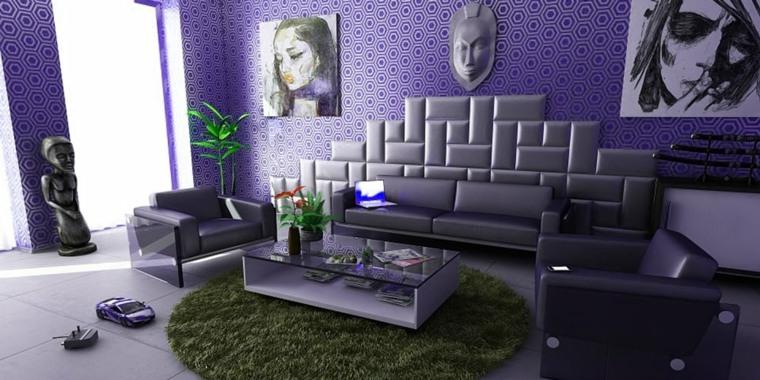 decoracion y diseno de interiores de casas-violeta