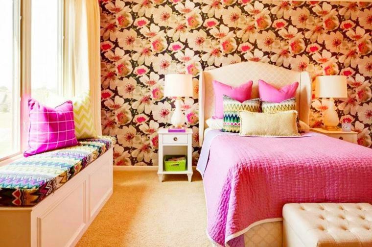 decorciones para habitaciones-papel-pintado