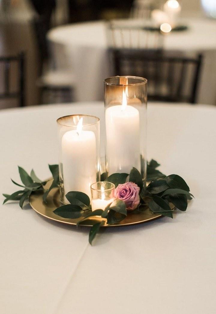 detalles de boda velas flores