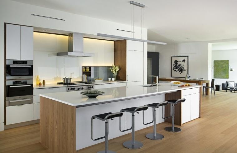 diseña tu cocina blanco-opciones-espacios-amplios