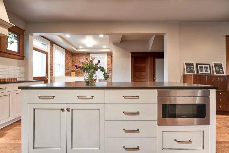 diseña tu cocina isla-opciones-cajones-almacenamiento