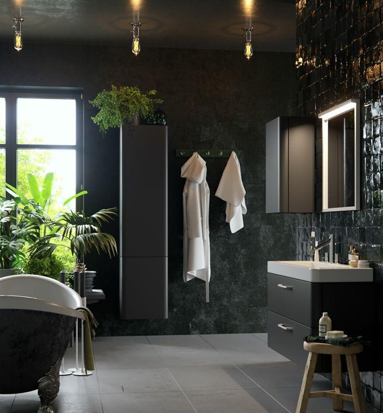 diseno de baños-opciones-estilo-moderno-decoracion-plantas