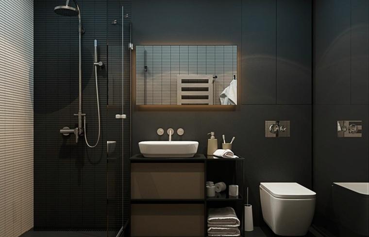diseños de baños opciones-estilo-negro