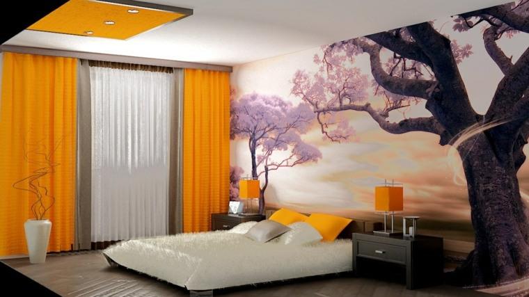 diseno de cuartos-flores-paredes