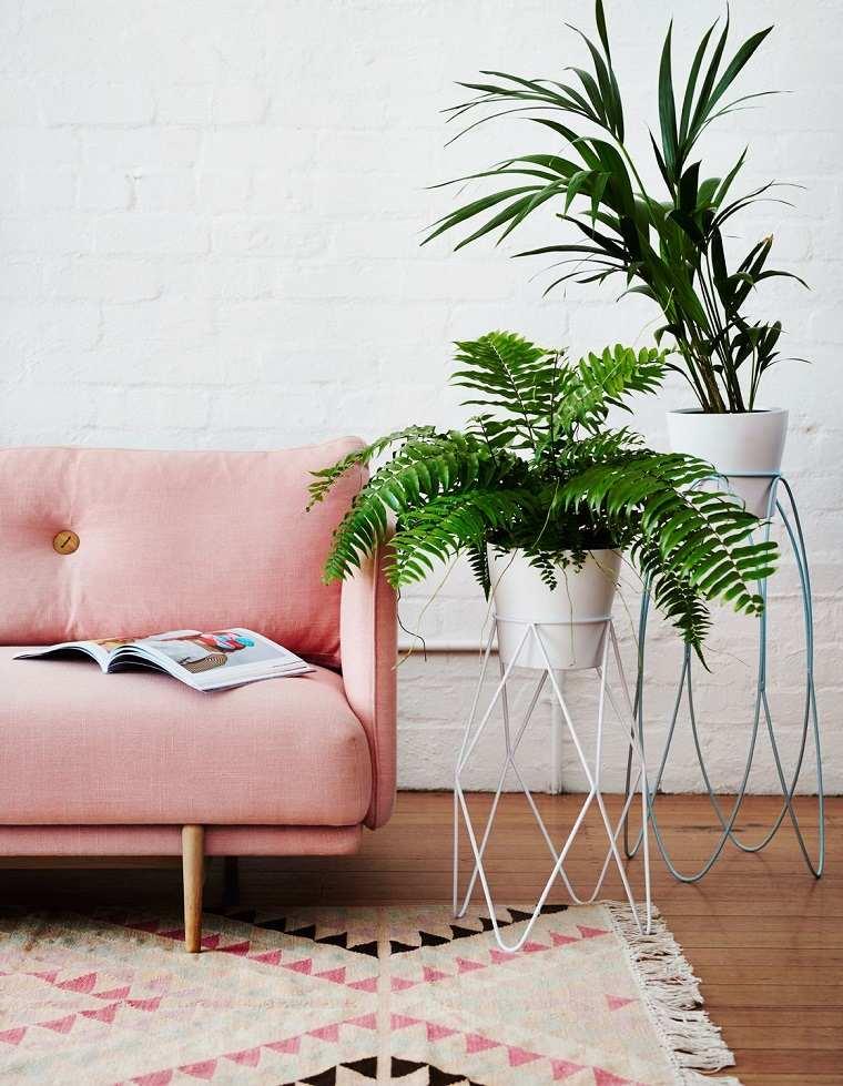 diseño interior tendencias 2018 sofa-planta