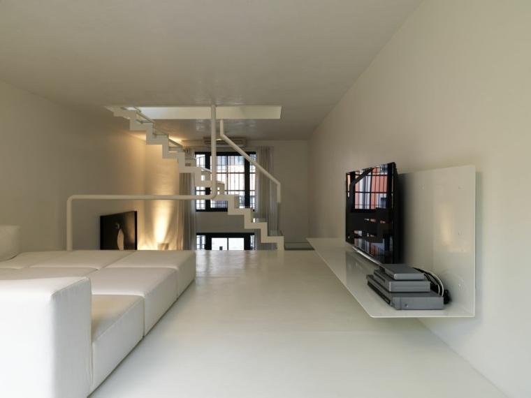Escaleras de estilo minimalista