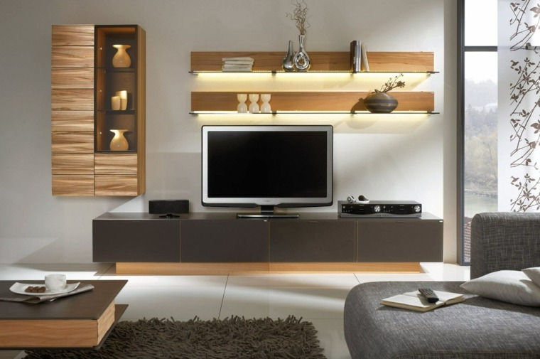 mueble tv con luces