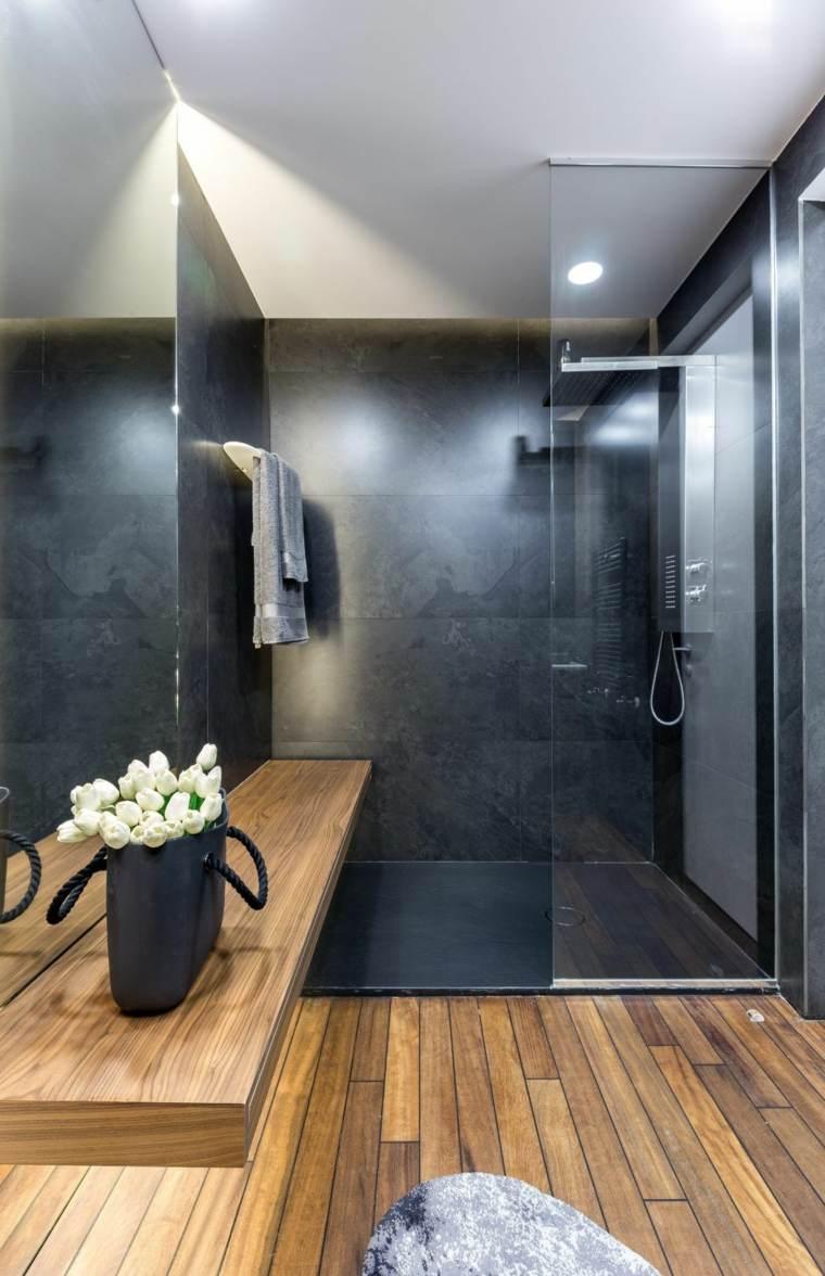 diseño de baños -ducha-mampara-cristal