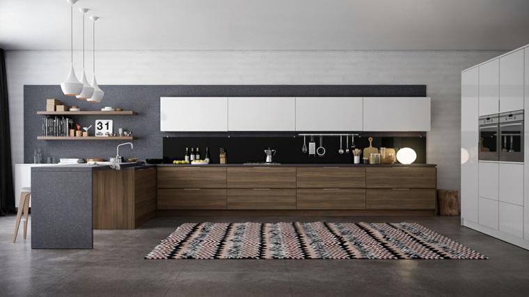 Hermosa Muebles De Cocina De Arce Naturales Contemporáneas Viñeta ...