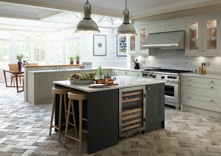 diseños de cocinas-opciones-espacios-amplios-estilo
