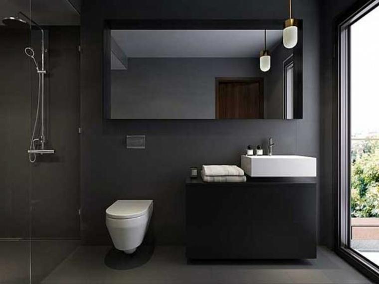 disenos de banos-elegantes-blanco-negro