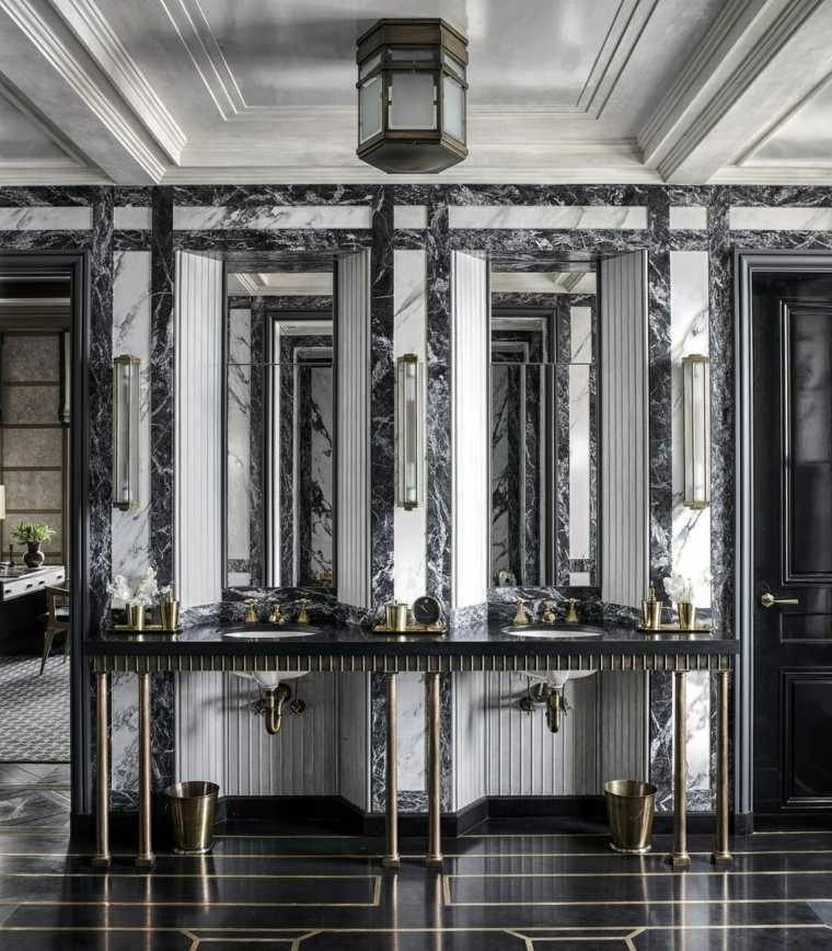 disenos-de-banos-negro-marmol-lujo-opciones