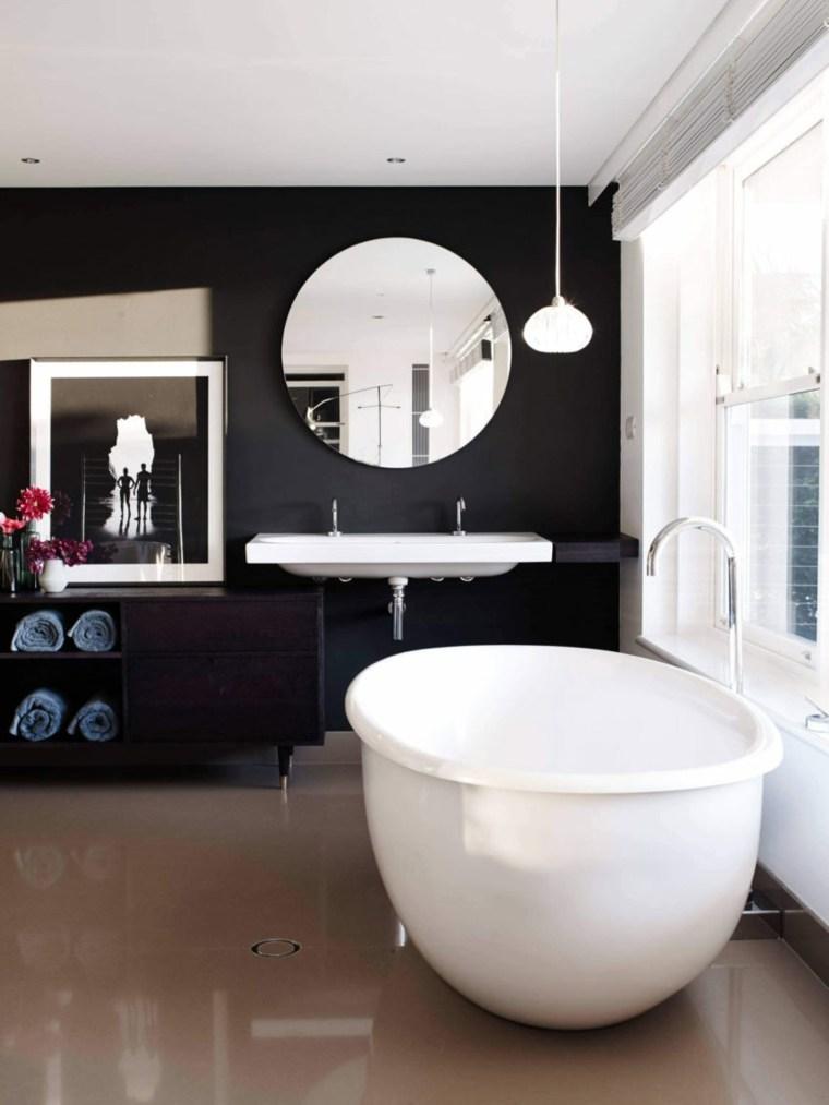 disenos-de-banos-negro-parede-banera-blanca