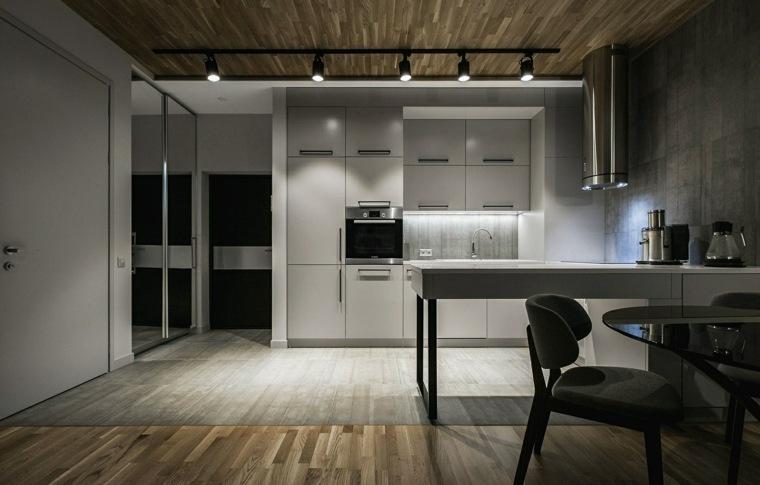 diseños de cocinas-blancas-contemporaneas