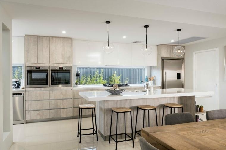 diseños de cocinas contemporaneas-estilo-atractivo