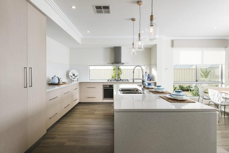diseños de cocinas-contemporaneas-estilo-plano-abierto