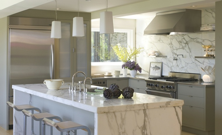 disenos-de-cocinas-estilo-contemporaneo-isla-marmol