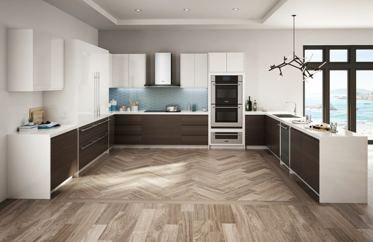Cocinas integrales de madera, unos interiores impresionantes -