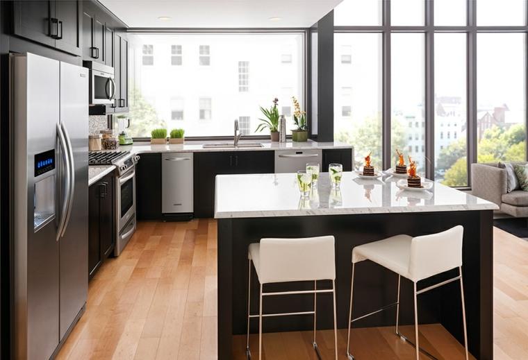 disenos-de-cocinas-muebles-isla-color-negro-opciones
