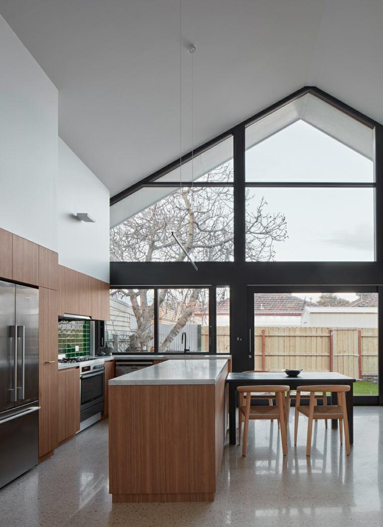diseños de cocinas-muebles-madera-opciones