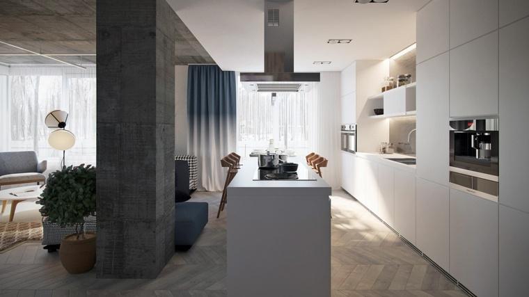 disenos-de-cocinas-opciones-apartamentos-loft-ideas