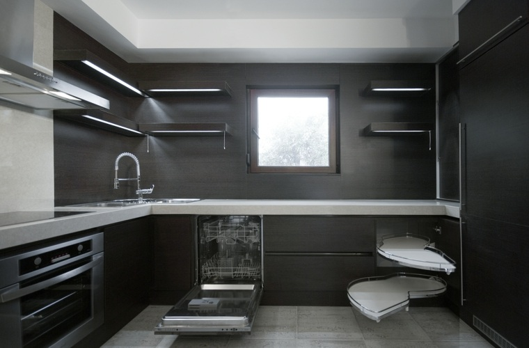 disenos de cocinas-salpicaderos-negras