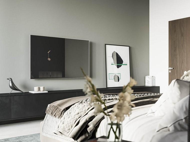 diseño de interiores de casas-madera-nogal-habitacion