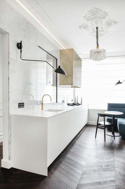 diseños para paredes blancas-textura-ideas-cocina