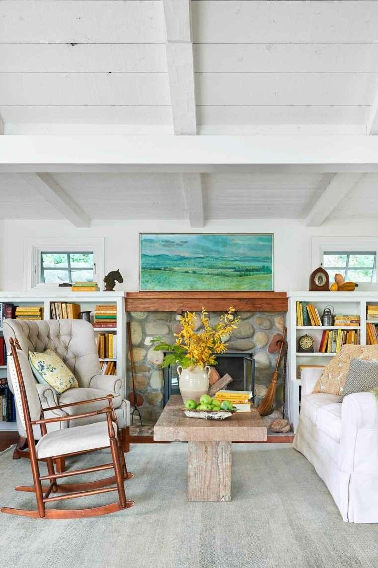 diseños para paredes blancas-textura-madera-techo