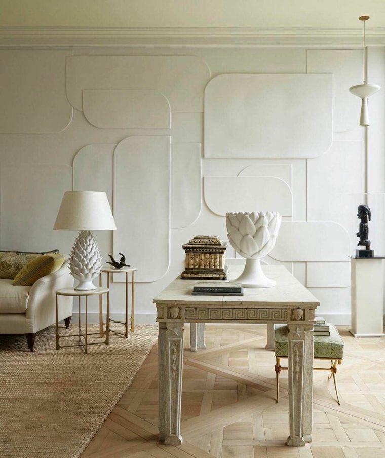 diseños para paredes blancas-textura-opciones-estilo