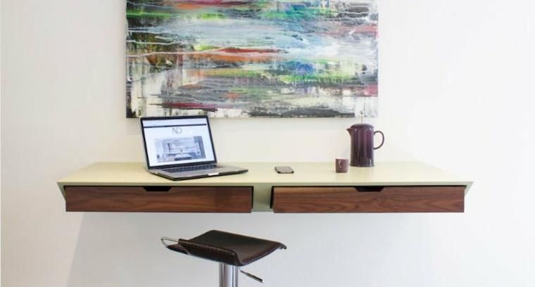 mesa de escritorio de pared sencilla