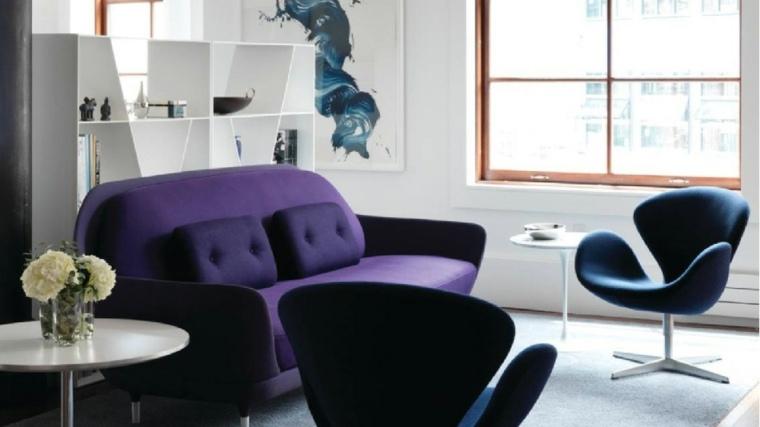 el color violeta-interiores-modernos