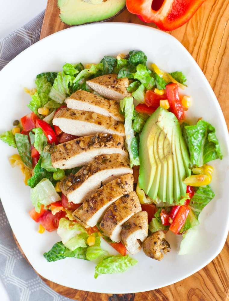 ensalada de pollo-aspecto-irresistible
