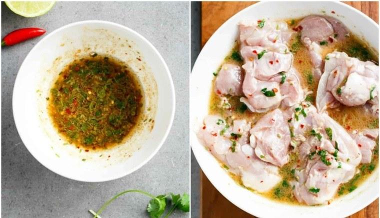 ensalada de pollo-preparacion-pollo