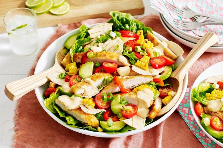 ensalada de pollo-verduras