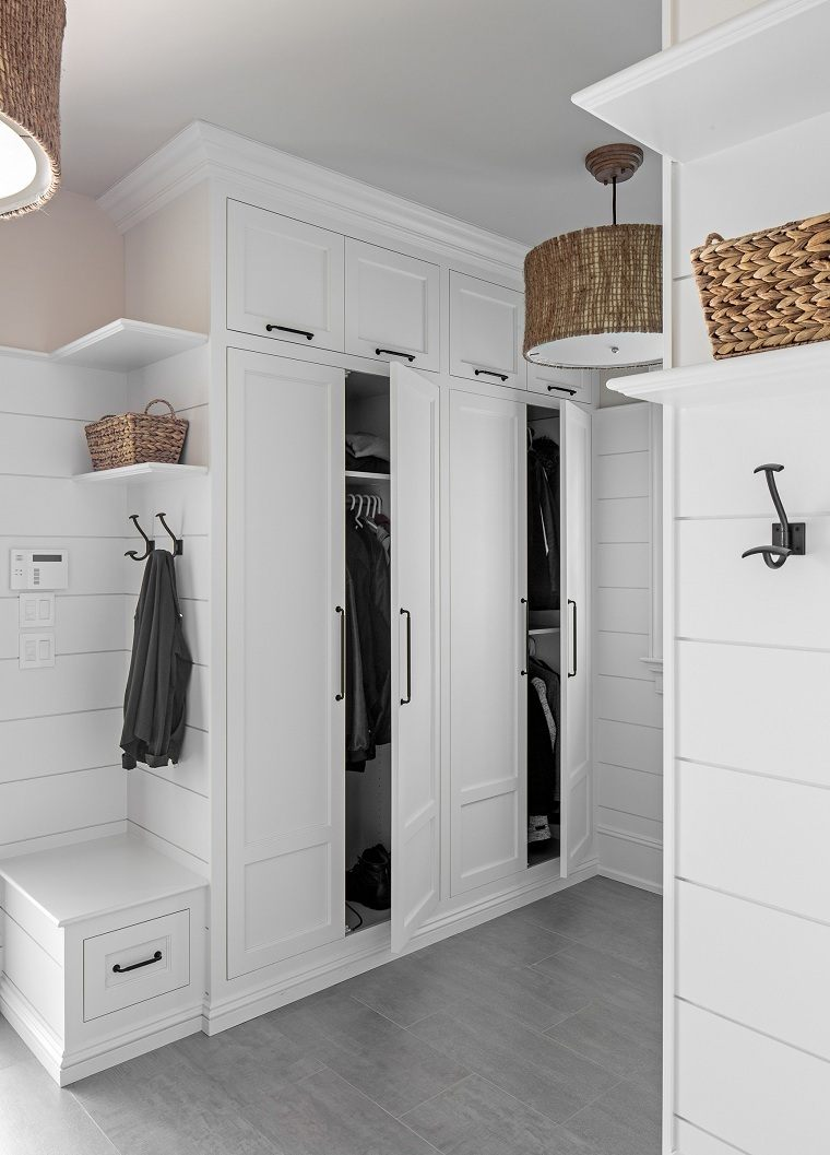 entradas-modernas-armarios-blancos-ideas