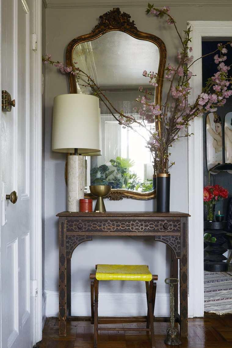 entradas modernas-muebles-decoracion-vintage