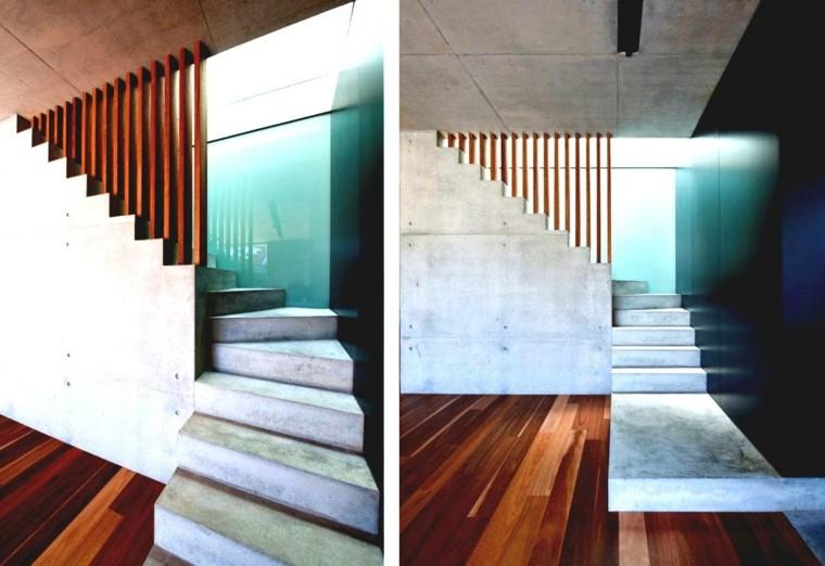 escaliers modernes dans un style minimaliste moins est plus elleidees. Black Bedroom Furniture Sets. Home Design Ideas