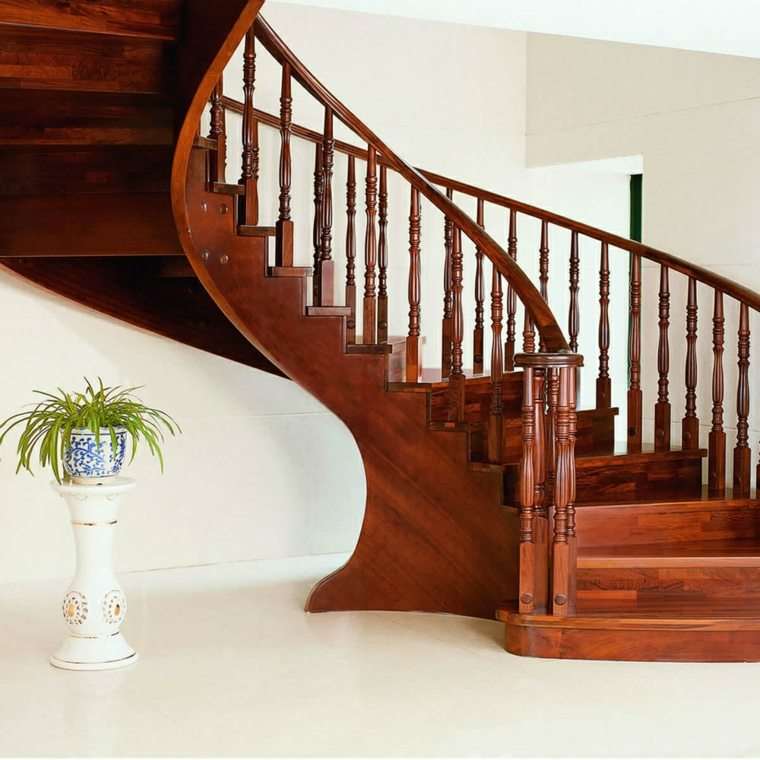escaleras de madera para interiores-decorar