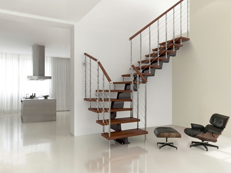 escaleras interiores-metal-madera-decorar