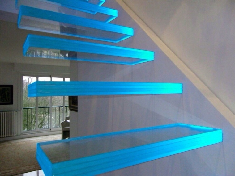 escaleras interiores modernas-cristal-decorar